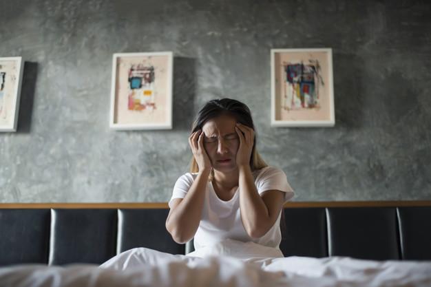 Mulher com apneia do sono